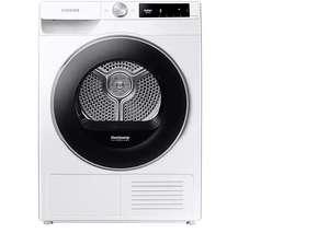 Secadora - Samsung DV90T6240LE/S3, 9 Kg, Libre instalación, Blanco