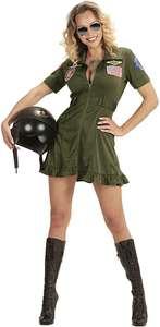 Disfraz de piloto de jet de combate, verde, Medium