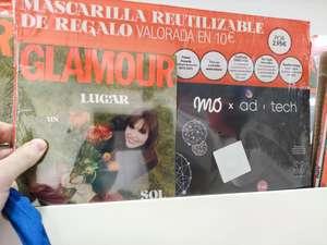 Mascarilla MOxAdTech gratis comprando revista Glamour