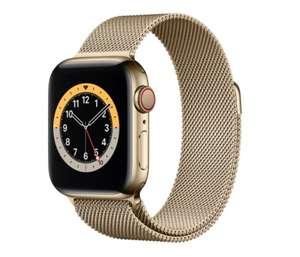 Apple Watch Series 6 GPS + Cellular, 40 mm Caja de acero inoxidable en oro