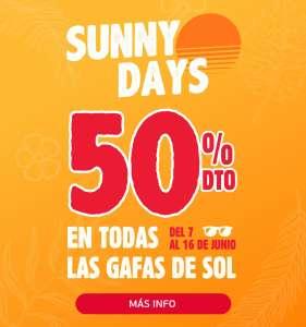 Gafas de sol al 50%