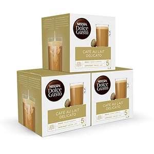 Nescafé DOLCE GUSTO CAFÉ CON LECHE DELICATO - Pack De 3 x 16 cápsulas