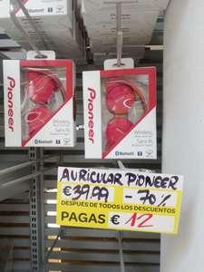 Auriculares Pioneer rojos bluetooth wireless en Carrefour Zaragoza