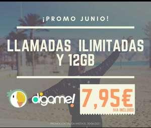 Llamadas ilimitadas + 12GB por 7,95€