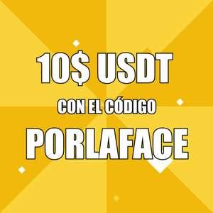 10 USDT PORLAFACE por registrarte en Binance [200 primeros]