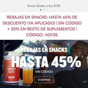 Hasta -45% en snaks y -35% en el resto de suplementos