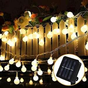 Guirnalda de Luces Led para exterior, carga solar, impermeable
