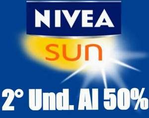 2ª unidad al 50% en Nivea Sun