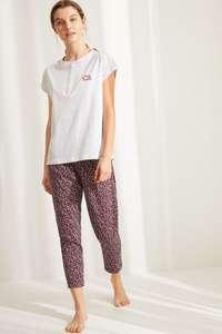 Pijama algodón orgánico Capri flores (Talla XS a XXL)