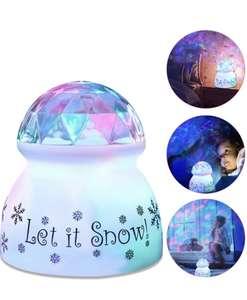 Proyector Estrellas Bebé, KNMY Onda de Agua Lámpara de proyector Lampara luz nocturna LED para bebés, 360° Rotación