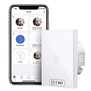 Interruptor inteligente de pared compatible con ALEXA y Google