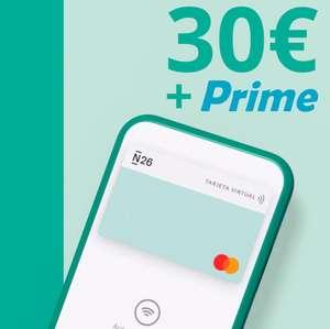 30€ + Amazon Prime GRATIS con N26