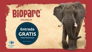 2x1 en Bioparc Valencia al comprar +30€ en Carrefour