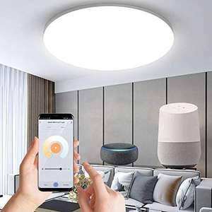 Anten WiFi Plafón Techo 24W, Compatible Alexa/Google Home, Control de Aplicación