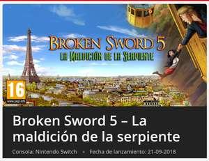 Broken Sword 5 [eshop Nintendo Switch]
