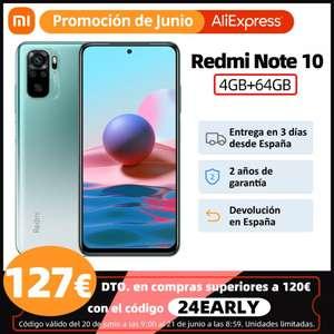 Xiaomi Redmi Note 10 4/64GB desde España