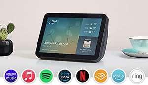 Echo Show 8 (1.ª generación, modelo de 2019) | Pantalla inteligente con Alexa | Mantén el contacto con la ayuda de Alexa | Antracita
