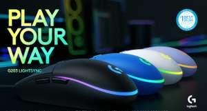 Ratón Gaming Logitech G203 (Todos los colores)