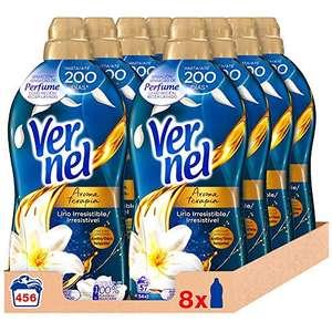 Vernel Suavizante Concentrado Aceite de Jazmín y Lirio - 8 unidades