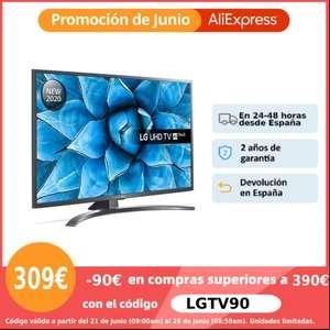 LG Serie 7, UN7100, UN7400 y UN7300 (con Magic Control), Smart TV 4K