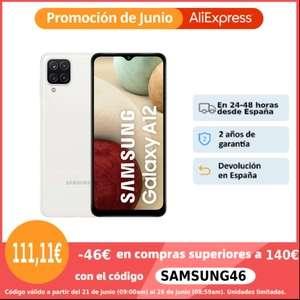 Samsung Galaxy A12 4/128 por solo 111€