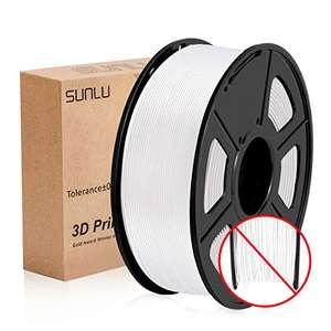 SUNLU Filamento Impresora 3D, PLA+ 1.75, 1KG Blanco puro