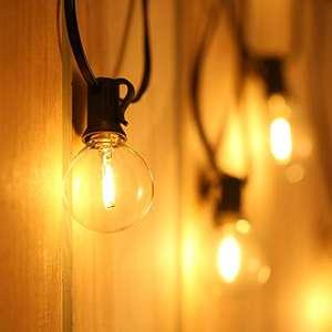Luces Exterior, 25+3 LED 12m G40 Guirnalda Bombillas. Por 30,39€