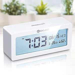 DIGOO Reloj Despertador Digital con temperatura y humedad