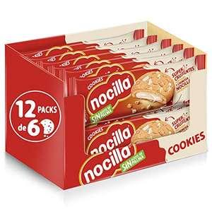 Nocilla Cookies - Galletas de Nocilla Blanca, 12 Packs de 6 Unidades
