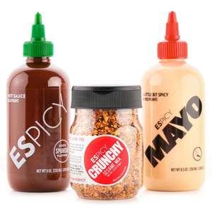 Pack ESPICY Trio (Hot Sauce, Mayo y Crunchy Sesame Mix) ENVIO GRATIS