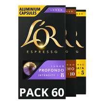 Pack de 60 capsulas cafe de LOr (Nespresso compatibles). Comprando 4 o más packs.