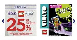 25% Descuento en Lego en las tiendas Juguettos.