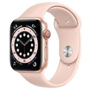 Apple Watch Series 6 GPS + Cellular 44mm Aluminio en Oro con Correa Deportiva Rosa Arena