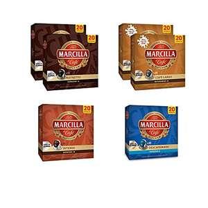 Paquete de cápsulas de café variadas Marcilla 6 paquetes x 20 (120 cápsulas)