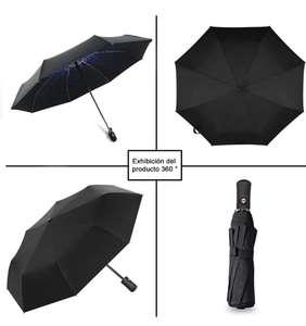 Paraguas automático Evita Los Rayos Ultravioleta Paraguas a Prueba de Sol, Aluminum, Negro, L