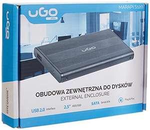 Caja U GO NATEC HDD / SSD PARA 2.5 '' SATA - USB2, Aluminio, Negro. Por 4,87€