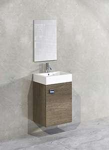 10 UNIDADES de mueble de baño, lavabo y espejo.