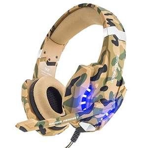 VersionTECH. Auriculares Gaming Estéreo Con Micrófono
