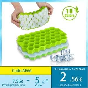 Cubitera por solo 0,35€ , set de pajitas de metal por 0,25€ y molde de silicona por 0,15€
