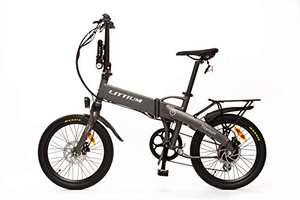 E-bike plegable de color titanio