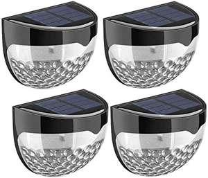 (4 Unidades) Luz Pared Solar Impermeable