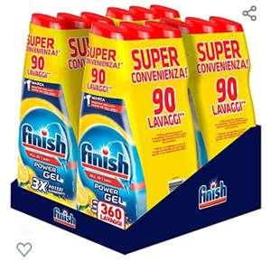 Finish Powergel - Gel detergente para lavavajillas líquido, multiacción, 360 lavados, 12 paquetes de 30 lavados