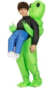 Traje inflable gracioso de alienígena, disfraz para niños