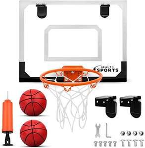 Mini Canasta Baloncesto,+ kit de montaje+2pelotas+inflador.