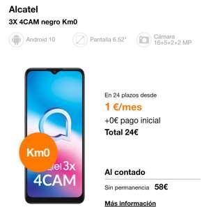 Alcatel 3x 4cam KM0 orange