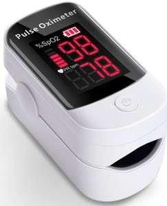 Pulsioxímetro LED Digital. Monitor de frecuencia cardiaca y nivel de oxígeno en sangre.