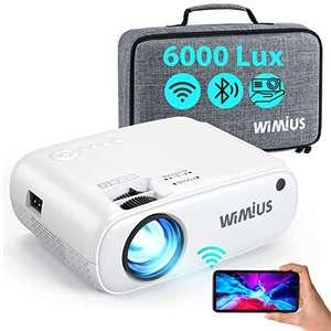 Proyector WiFi Bluetooth, WiMiUS 6000 Lúmenes