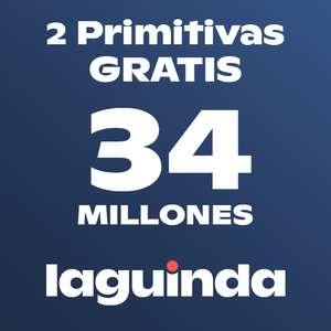 2 boletos de Primitiva GRATIS al asegurarlos con Laguinda (0.50€)