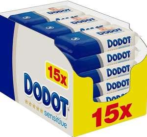 Dodot Toallitas Bebé Sensitive. 15 Paquetes (15x54)= 810 Toallitas Óptima Protección para la Piel [Al Tramitar]