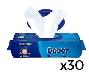 1920 Uds de toallitas Dodot, salen a 0'01. 30 paquetes, 0,73 céntimos el paquete y con envío gratis.
